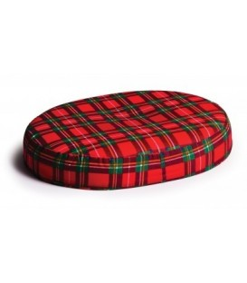 Foam Ring Seat Cushion - Red Plaid