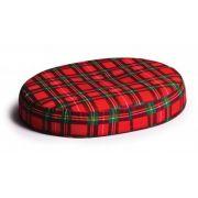 Foam Ring Seat Cushion - Red Plaid