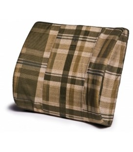 Lumbar Foam Support Cushion - Green Plaid