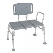 Drive Bariatric Plastic Seat Transfer Bench with Backrest