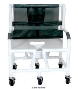 "Lumex 30"" Bariatric Shower Commode Bath Chair with Sliding Footrest 89351 by Graham Field"