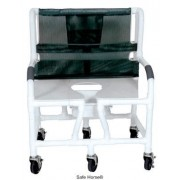 """Lumex 30"""" Bariatric Shower Commode Bath Chair with Sliding Footrest 89351 by Graham Field"""