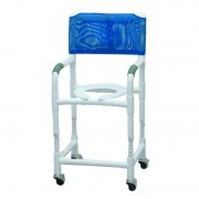 """Lumex 18"""" PVC Shower Commode Chair with Adjustable Height 89150 by Graham Field"""