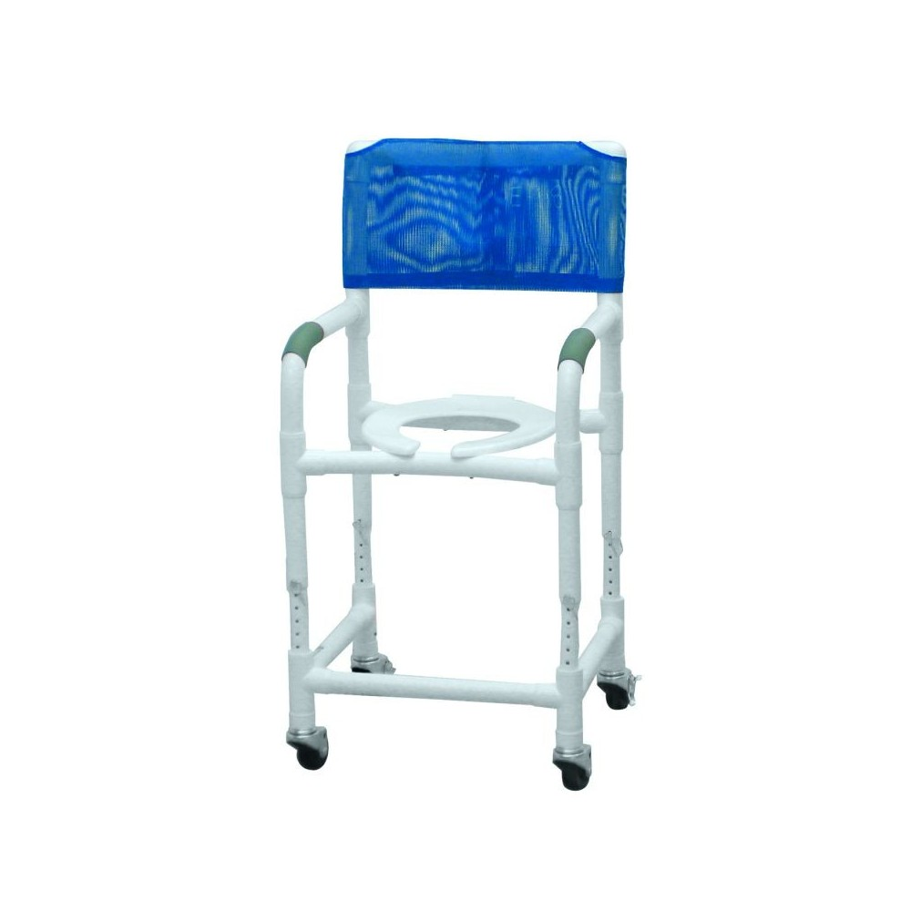 Lumex 18in PVC Shower Commode Chair with Adjustable Height 89150