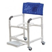 """Lumex 22"""" PVC Shower Commode Chair with Sliding Footrest 89210 by Graham Field"""