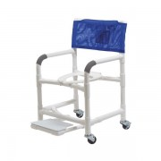"""Lumex 18"""" PVC Shower Commode Chair with Sliding Footrest 89110 by Graham Field"""