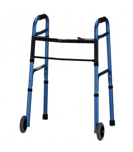 "Lumex Everyday Walker W/5"" Wheels Dual Release -  Blue"