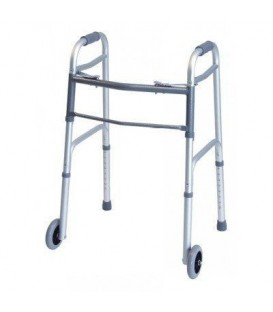 Lumex Everyday Dual Release Walker w/ Wheels - Silver