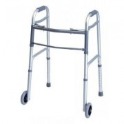 Lumex Everyday Dual Release Walker w/ Wheels in Silver 716270A-1 by Graham Field