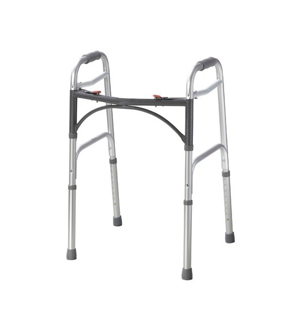Deluxe Two Button Folding Walker