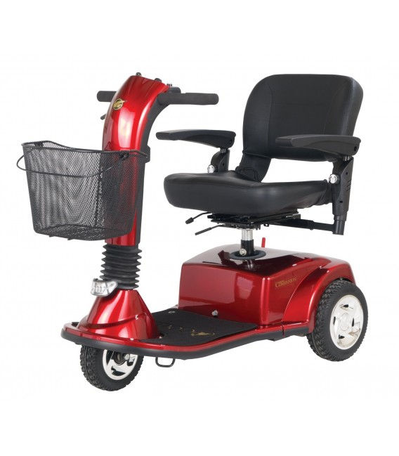 Golden Companion 350lb Capacity - 3 Wheel Scooter - Red
