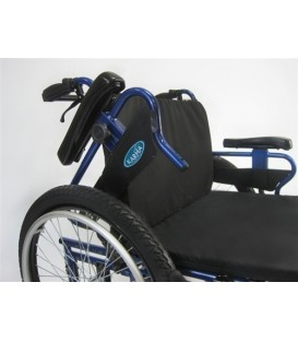 """Karman 22"""" seat Foldable Bariatric Wheelchair with Detachable Footrests"""