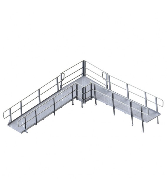 Pvi modular xp expandable ramp system for Prefab wheelchair ramp