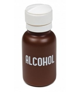 "Dispenser with ""Alcohol"" Imprinted"