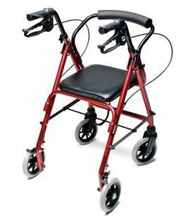Lumex Walkabout Lite Junior 4 Wheel Rollator - Burgundy Graham Field