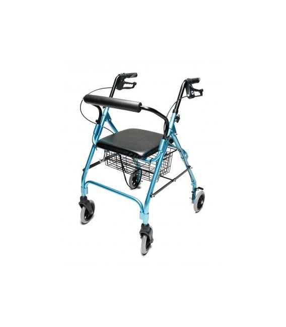 Lumex Walkabout Wide Lite Four-Wheel Rollator - Aqua