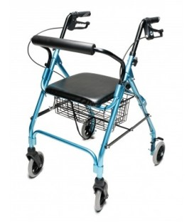 Lumex Walkabout Wide Lite Four-Wheel Rollator - Aqua