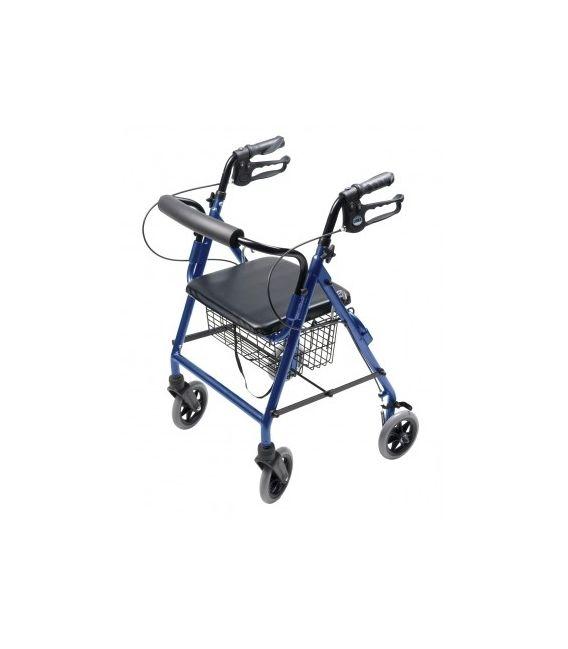 Lumex Walkabout Four-Wheel Hemi Rollator - Blue