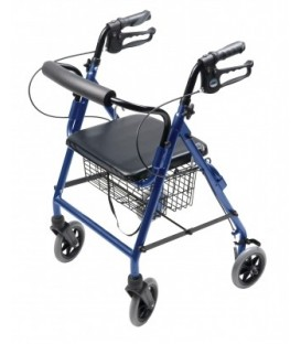 Lumex Walkabout Four-Wheel Hemi Rollator - Blue