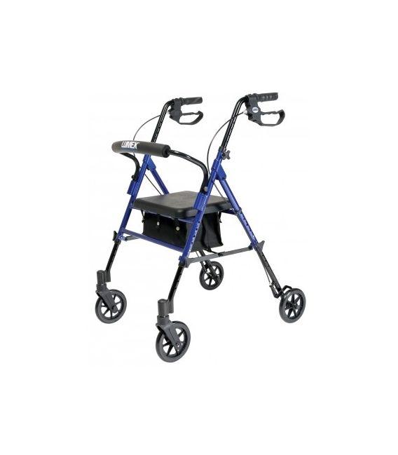 Set n' Go Height Adjustable Rollator - Blue