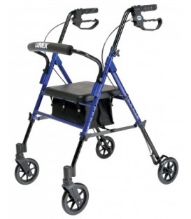 Set n' Go Height Adjustable Rollator - Blue
