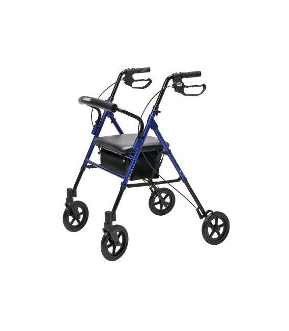 Set n' Go Wide Height Adjustable Rollator - Blue