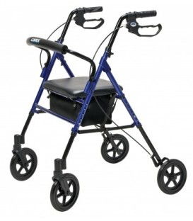 Set n' Go Wide Height Adjustable Rollator - Blue