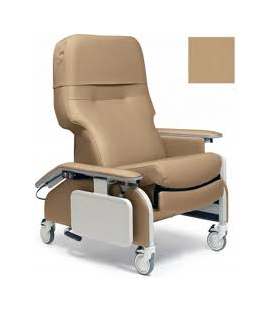 Lumex FR566DGH Drop Arm Geri Chair Recliners with Heat & Massage by Graham Field