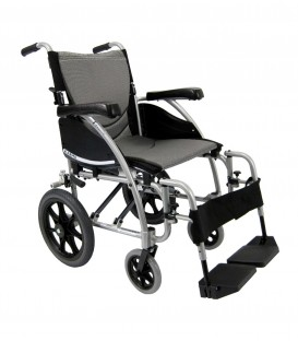 Karman S-115F-TP 22 lbs Lightweight Transport Companion Wheelchair
