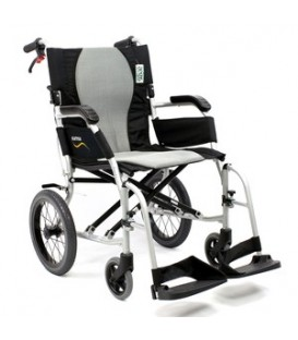Karman ERGO FLIGHT-TP 18 lbs Ultralightweight Transport Hill Brake Wheelchair