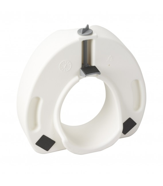 Premium Plastic Raised, Regular/Elongated Toilet Seat, with Lock- Drive