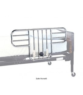 Lumex Universal Half Bed Rails, Chrome