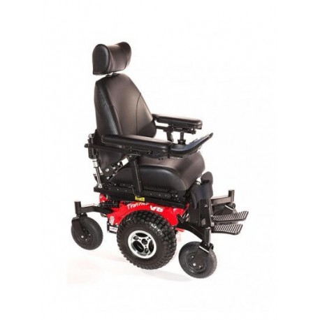 Flame red for All terrain motorized wheelchairs