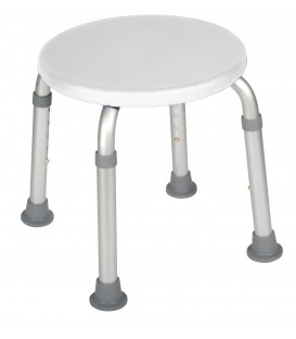 Adjustable Height Bath Stool - White