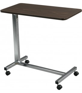 Non Tilt Overbed Table w/Walnut Top Silver Vein Base & Mast by Drive