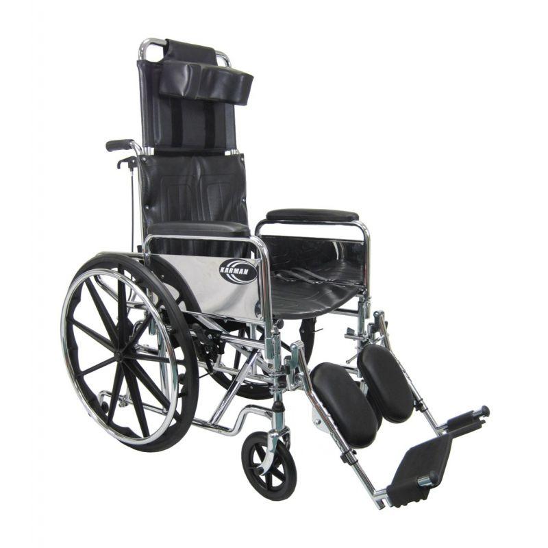 Heavy Duty Steel Reclining High Back Wheelchair By Karman
