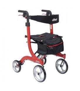 Drive Nitro Tall Euro-Style Aluminum 4 Wheel Walker Rollator
