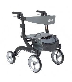 Nitro Aluminum Euro Style Walker Rollator, Hemi Height RTL10266-H Drive