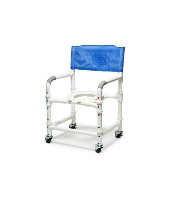 Lumex 26in PVC Bariatric Shower Commode Chair