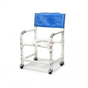 "Lumex 26"" PVC Bariatric Shower Commode Chair 89250 by Graham FIeld"