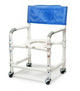 Lumex 22in PVC Knock-Down Shower Commode Chair