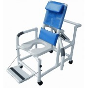 "Lumex 20"" PVC Recline Shower Commode Chair Swing Arms & Belt 89330 by Graham Field"