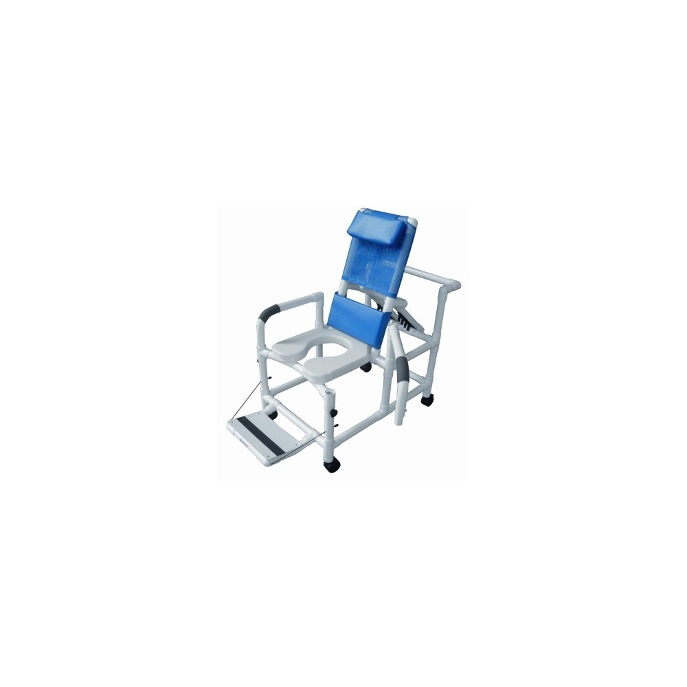 Pvc Chair Product : Lumex quot pvc recline shower commode chair swing arms