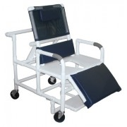"Lumex 26"" Bariatric Recline Shower Commode Bath Seat 89440 by Graham Field"