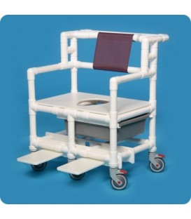Bariatric Shower Commode Chair - BSC660P