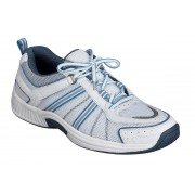 OrthoFeet Women's Tahoe Diabetic Shoes - Blue/White
