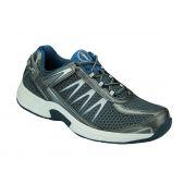 OrthoFeet Men's Sprint Diabetic Shoes - Gray