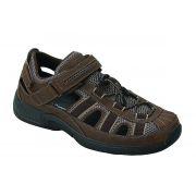 OrthoFeet Men's Clearwater Diabetic Shoes - Brown