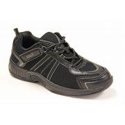 OrthoFeet Men's Monterey Bay Diabetic Shoes - Black
