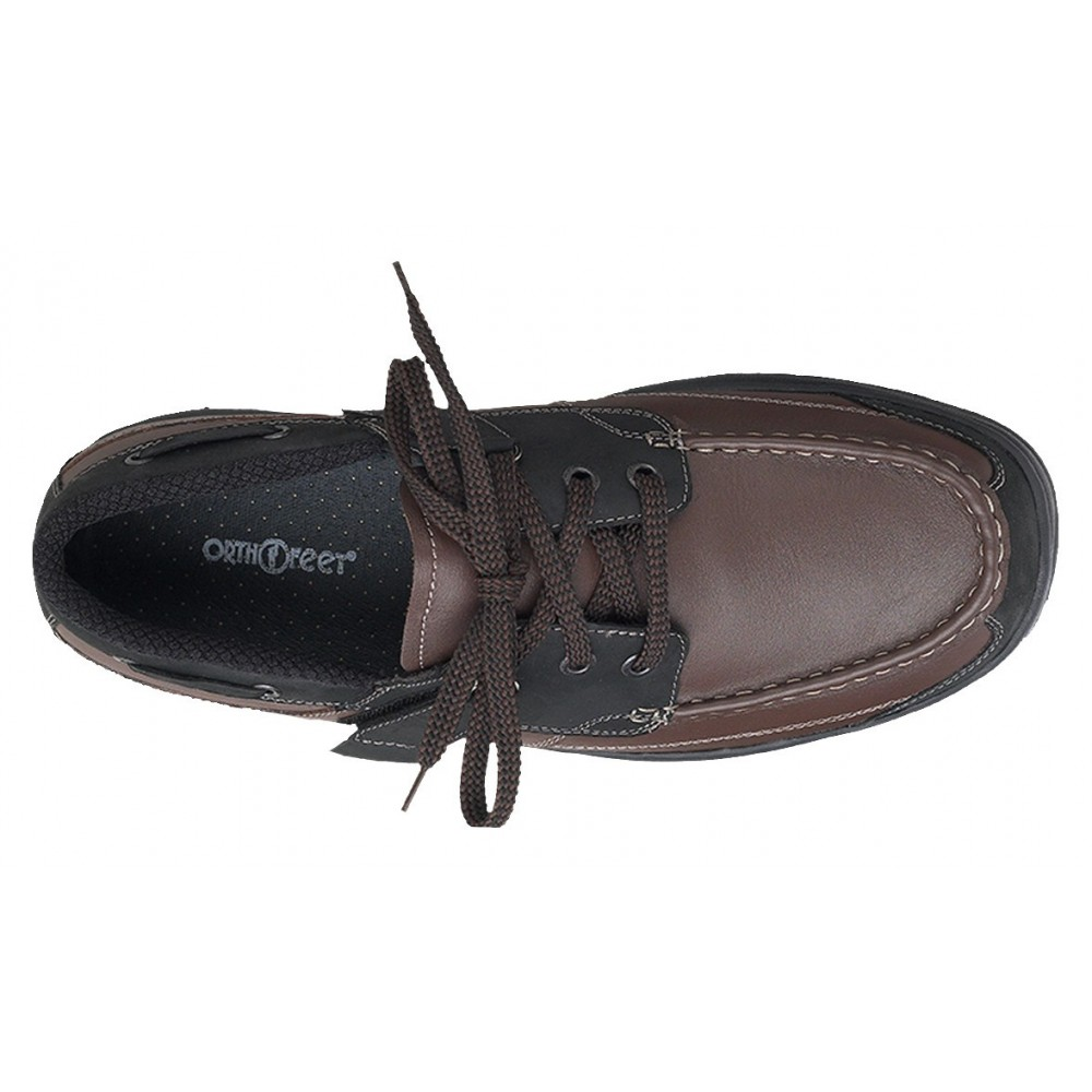 Orthofeet Men S Baton Rouge Diabetic Shoes Brown Black